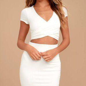 Lulu's Ivory Two-Piece Dress